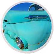 Blue Ford Pickup Truck Round Beach Towel