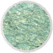 Blue Fossil Round Beach Towel
