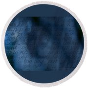 Blue Glimpse Round Beach Towel