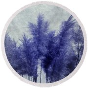 Blue Grass Round Beach Towel