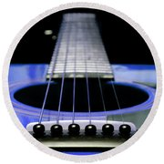 Blue Guitar 14 Round Beach Towel