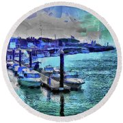 Blue Harbour Round Beach Towel