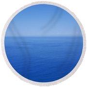 Blue Horizon Round Beach Towel
