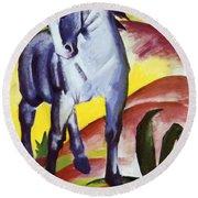 Blue Horse I 1911 Round Beach Towel