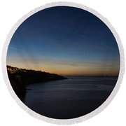 Blue Hour In Sorrento Italy Round Beach Towel
