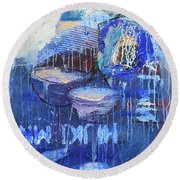 Blue Hour Round Beach Towel