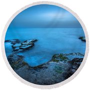 Blue Hour Sunset Round Beach Towel