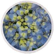 Blue Hydrangea Bouquet Round Beach Towel
