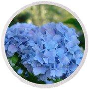 Blue Hydrangea Flower Art Prints Baslee Troutman Round Beach Towel