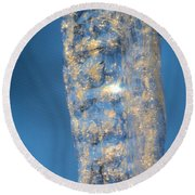 Blue Ice 5 Round Beach Towel
