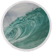 Blue Ice  Round Beach Towel