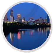 Blue Indianapolis Round Beach Towel