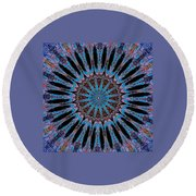Blue Jewel Starlet Round Beach Towel