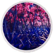 Blue Jungle Round Beach Towel