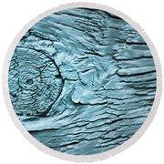 Blue Knot Round Beach Towel