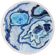 Blue Lace Agate I Round Beach Towel