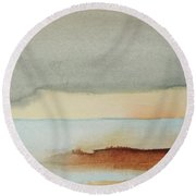 Blue Lagoon Round Beach Towel