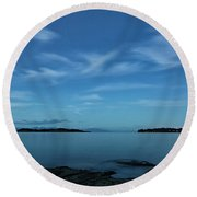 Blue Madrona Round Beach Towel