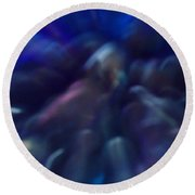 Blue Marbles Round Beach Towel