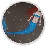 Blue Mermaid Round Beach Towel