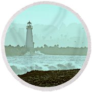Blue Mist 2 Round Beach Towel