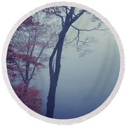 Blue Mist Round Beach Towel