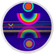 Blue Moon Reflections Round Beach Towel