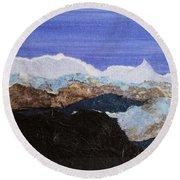 Blue Mountains II Round Beach Towel