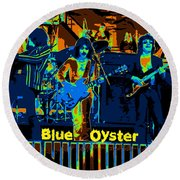 Blue Oyster Cult Jamming In Oakland 1976 Round Beach Towel