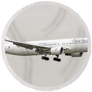 Blue Panorama Airlines Boeing 767-300 Round Beach Towel