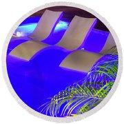 Blue Pool Round Beach Towel