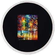 Blue Refelctions Round Beach Towel