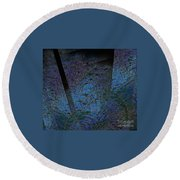 Blue Reflection Round Beach Towel