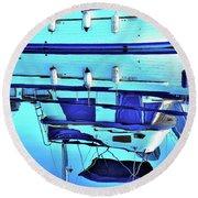 Blue Reflection Round Beach Towel