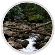 Blue Ridge Brook Round Beach Towel