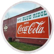 Blue Ridge Coke Round Beach Towel