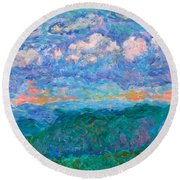 Blue Ridge Magic From Sharp Top Stage One Round Beach Towel