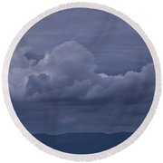 Blue Ridge Mountain Storm In Virginia Round Beach Towel