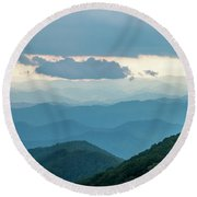 Blue Ridge Mountains View From Craggy Garden Round Beach Towel