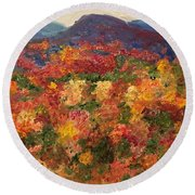 Blue Ridge Pastoral Round Beach Towel