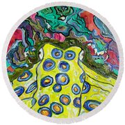 Blue Ringed Octopus Round Beach Towel