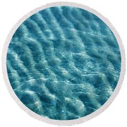Blue Ripples Round Beach Towel