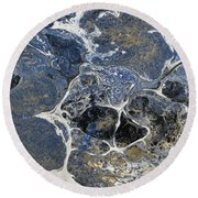 Blue Rock One Round Beach Towel