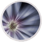 Blue Satin Round Beach Towel