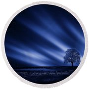 Blue Serenity Round Beach Towel