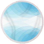 Blue Sky Semi Circle Background Horizontal Round Beach Towel