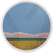 Blue Sky Round Beach Towel