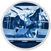 Blue Skynyrd Smoke Round Beach Towel