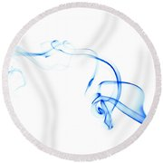 Blue Smoke Round Beach Towel