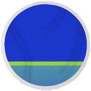 Blue Split By Nixo Round Beach Towel